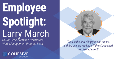 Larry March Cohesive Solutions Asset Management Performance Management Data Quality